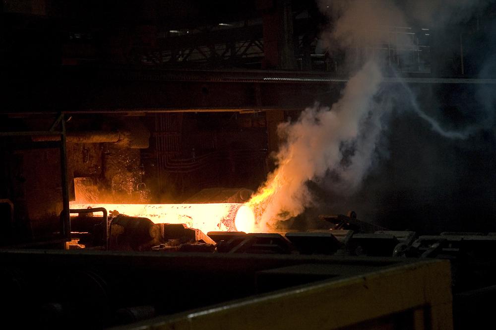 Stahlrohr im Bearbeitungsprozess