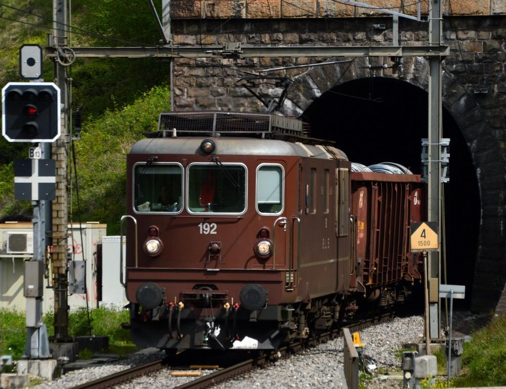 Stahltransport bei Flüelen