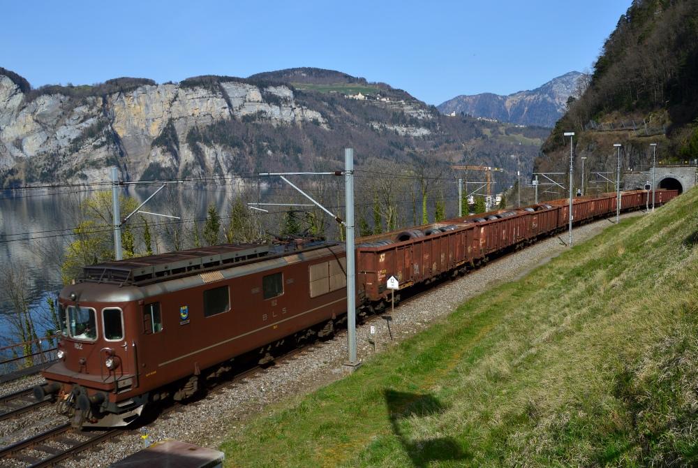 Stahltransport mit der BLS