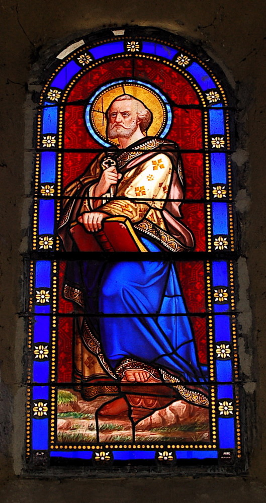 Stain glass in a Pyrénées church