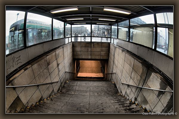 Stairs to Hakaniemi underground, Helsinki