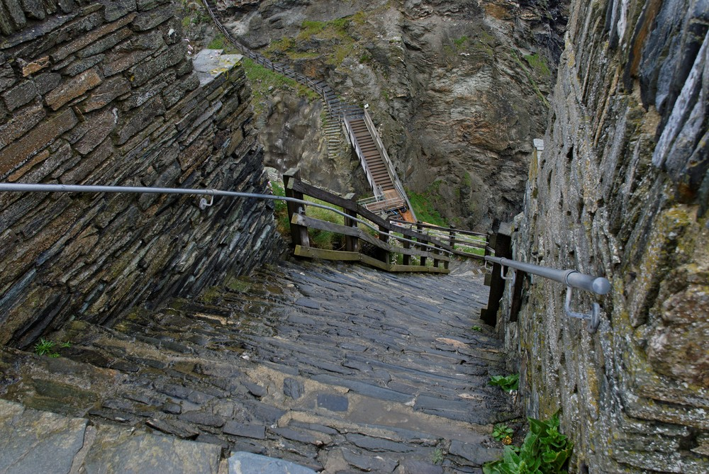 Stairways to ... Tintagel Castle