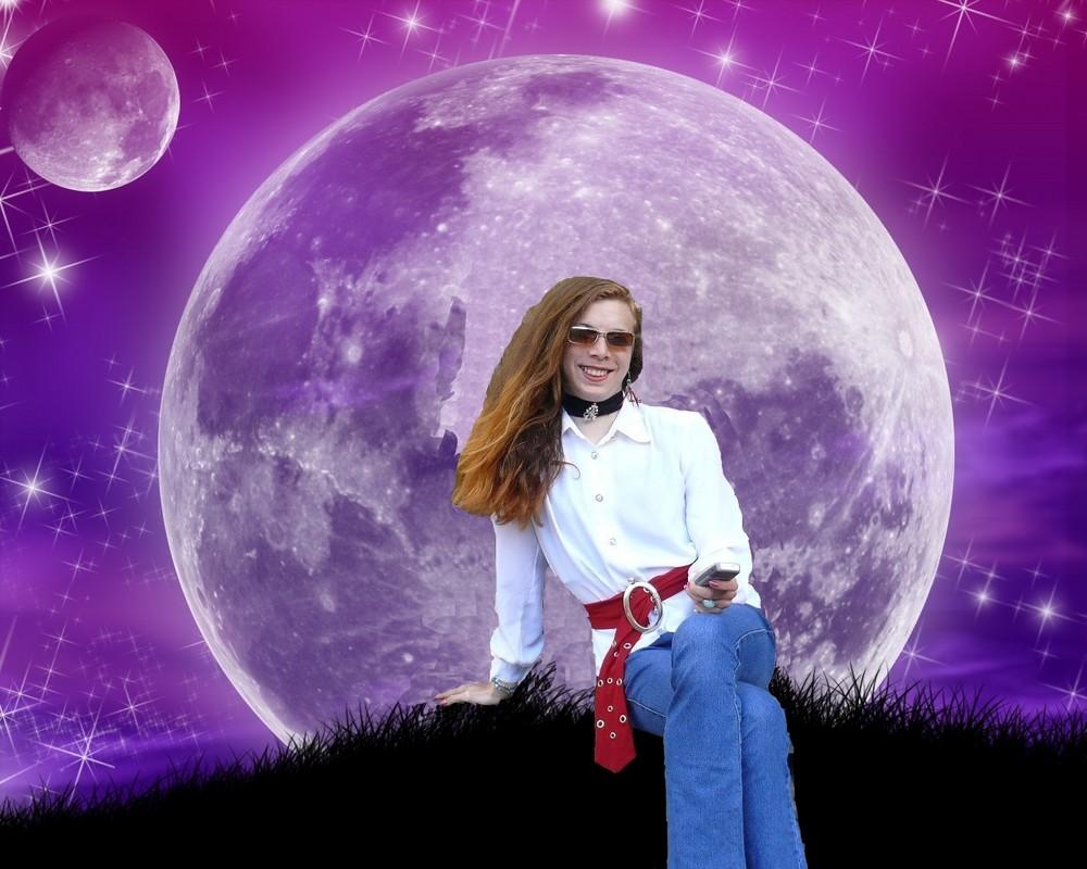 Stana se repose sur la lune