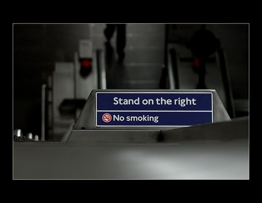 """""""Stand on the right"""""""