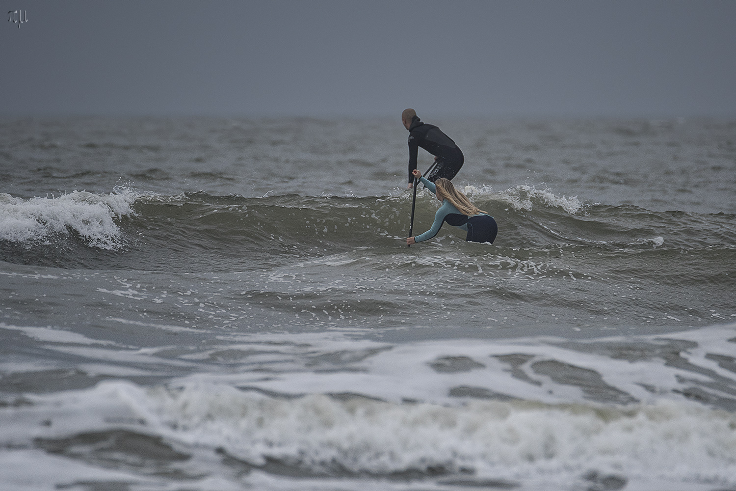 stand up paddle surfing an der nordsee