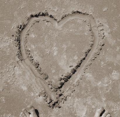 ( standfest ;-) ) sandige Liebe