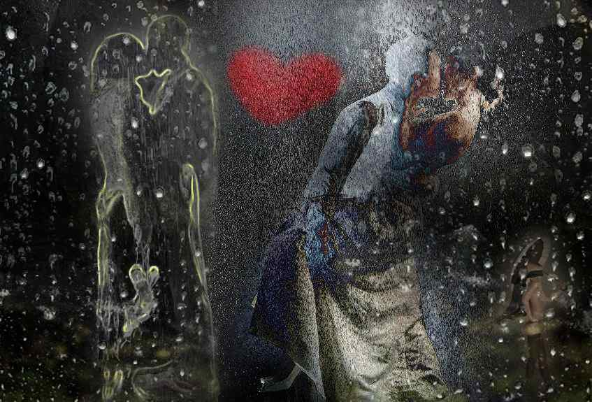 standing in the rain with love