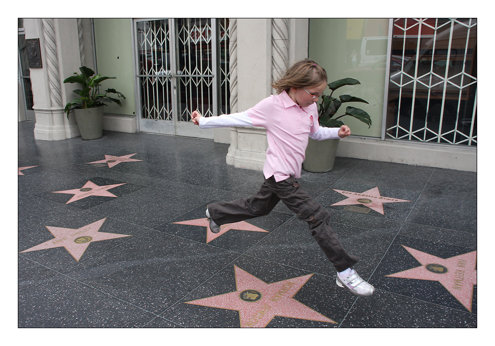 star jumping ...