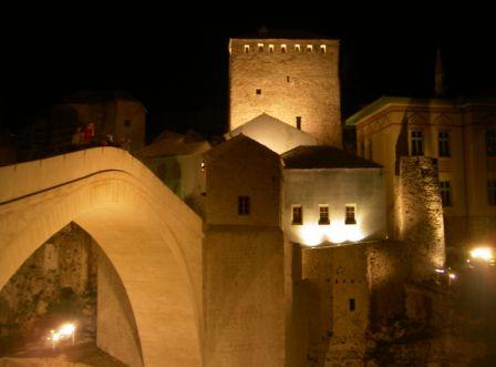 Stari Most bei Nacht