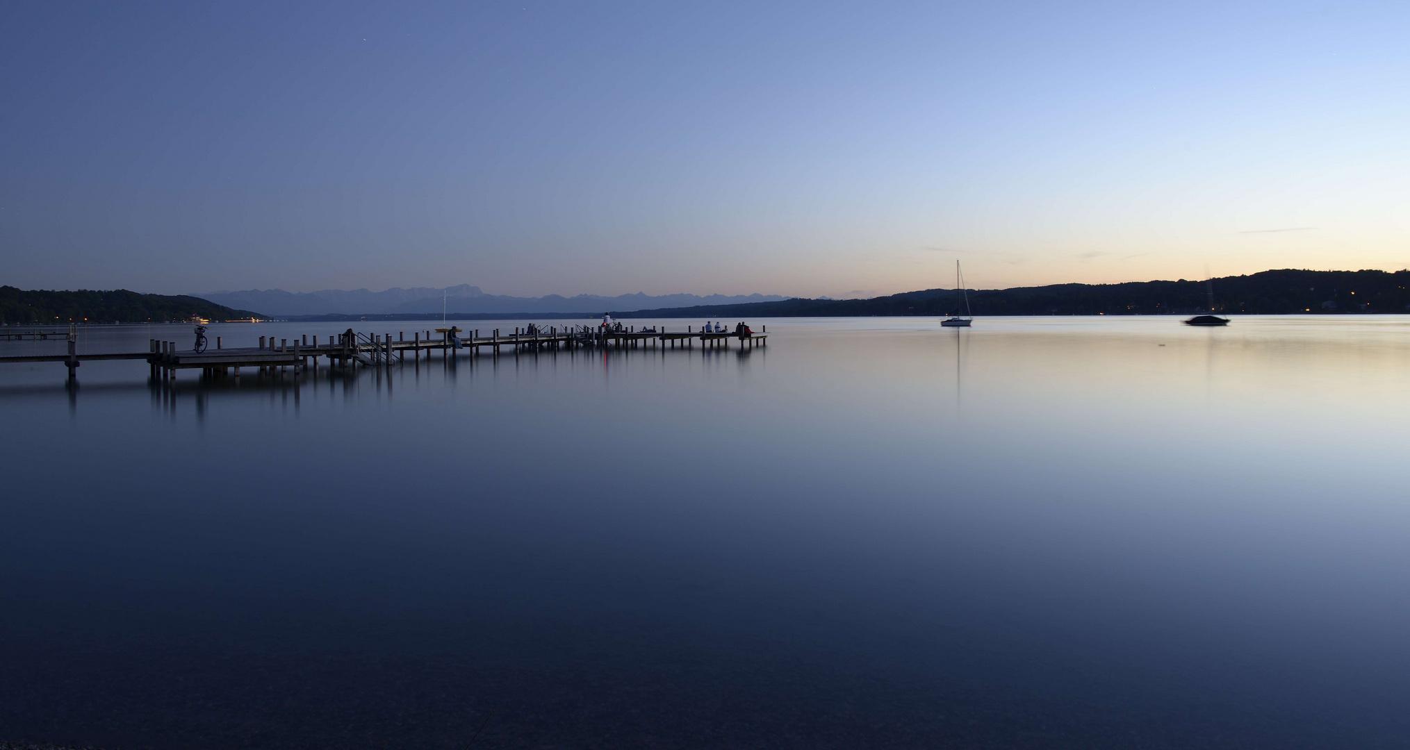 Starnberger See bei Sonnenuntergang