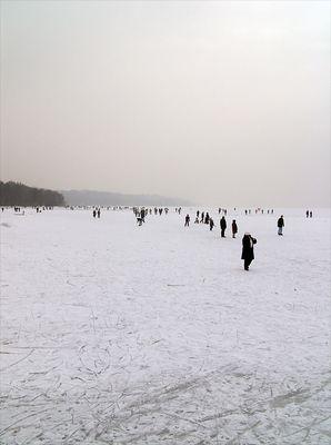 Starnberger See, jetzt ganz zugefroren