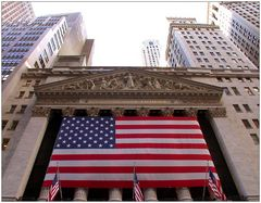 Stars and Stripes at Wall Street