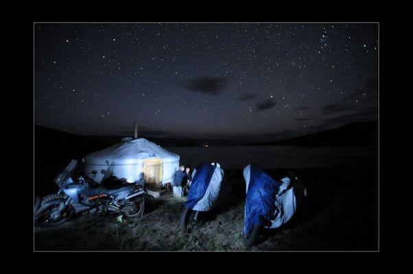 Stars over Olkhon Island