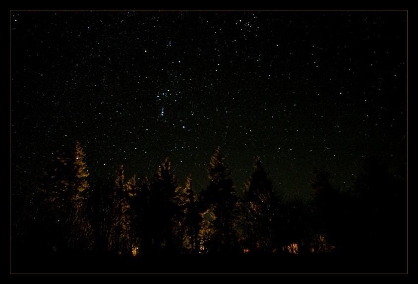 Stars shining bright above me