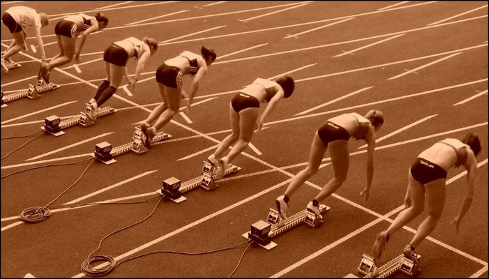 Start 100 m Lauf