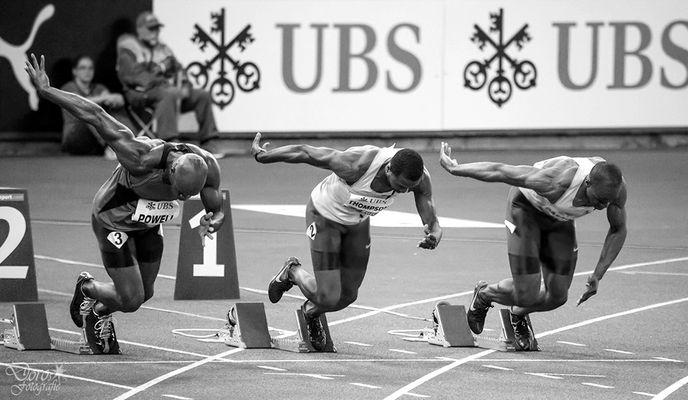Start 100m Weltklasse Zürich 2014