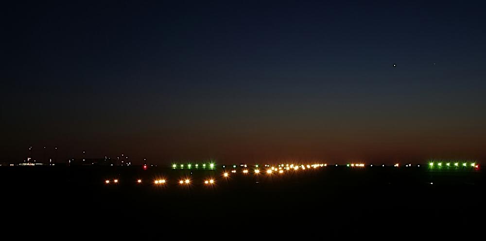 Start- und Landebahn Flughafen Erfurt