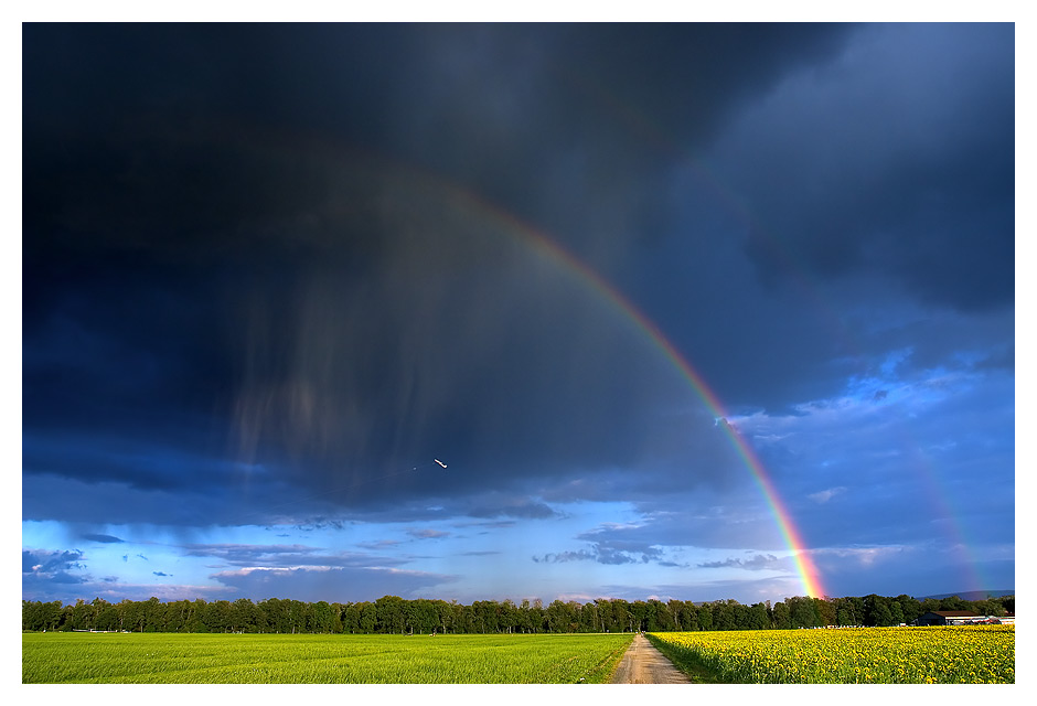 Start unter dem regenbogen