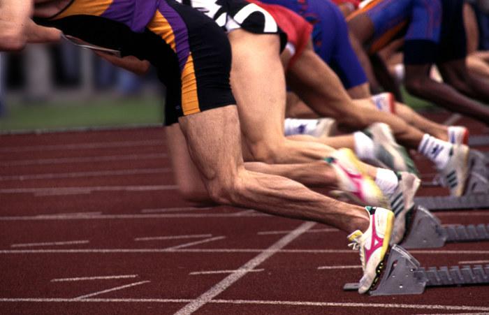 start z. 100m Lauf
