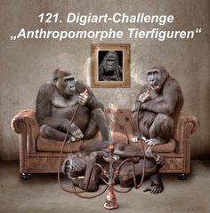 """Startbild fuer die 121. Digiart-Challenge """"Anthropomorphe Tierfiguren"""""""