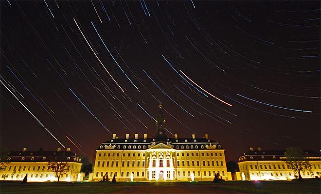Startrails-Hubertusburg-Schloss