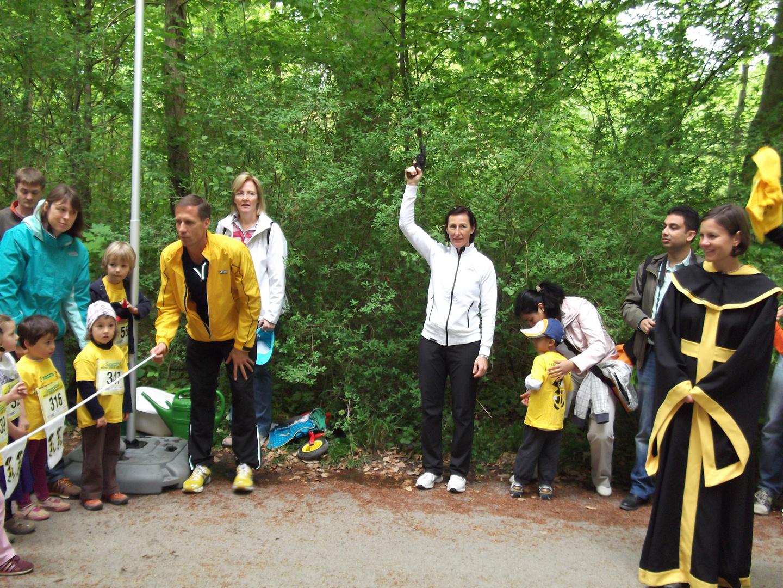 Startschuss II - Olympiasiegerin Marina Kiehl mit German Hehn und Münchner Kindl