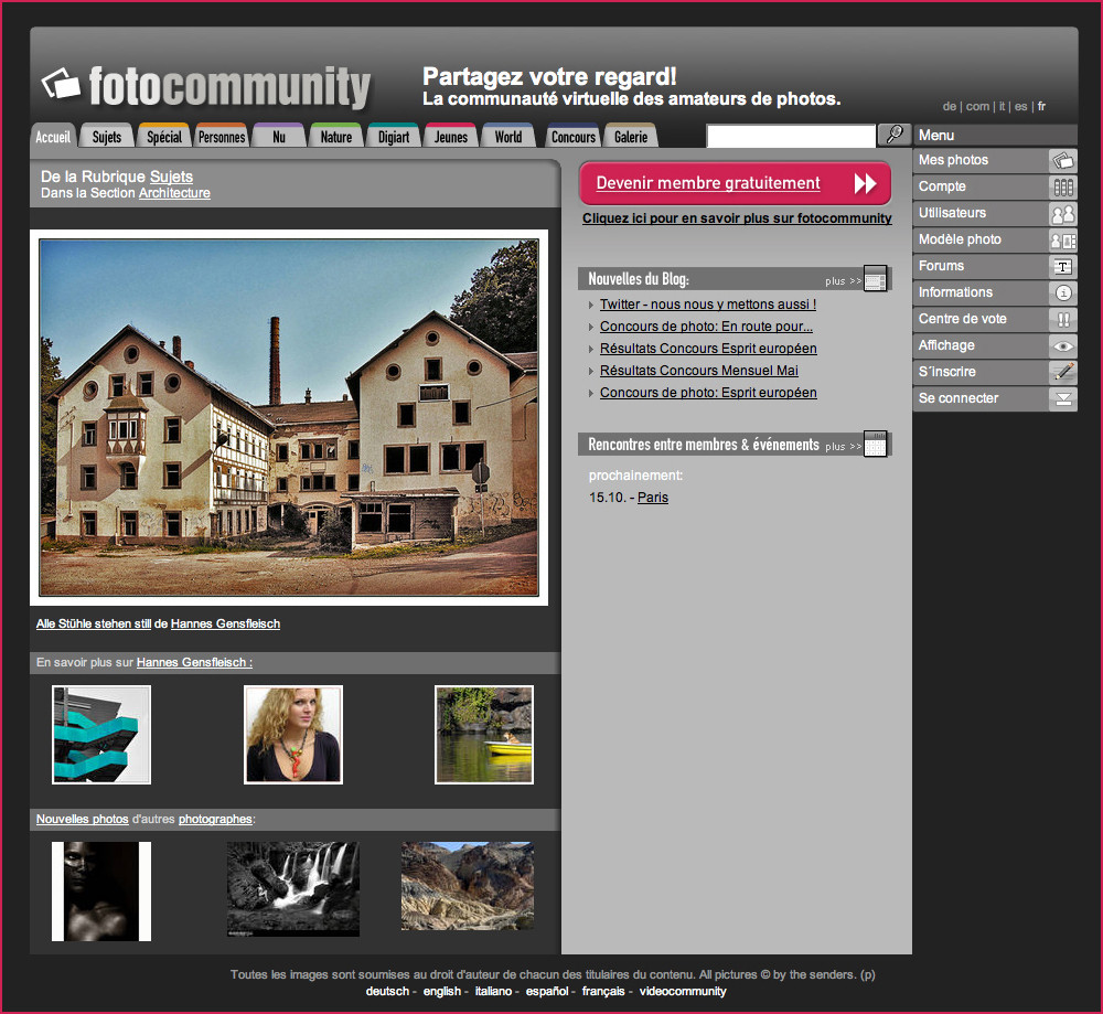 Startseite fc.fr – 19.8.2009