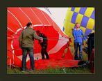 "Startvorbereitungen ""unseres Ballons"""