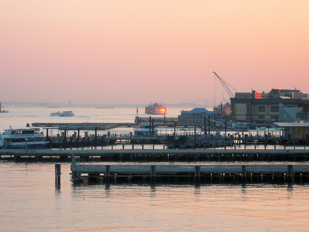 Staten Island Ferry and part of the harbour