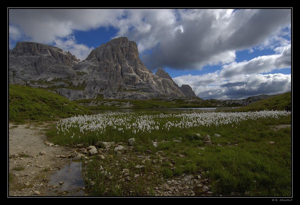 Station einer Dolomiten-Wanderung