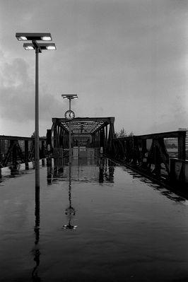 Station im Regen