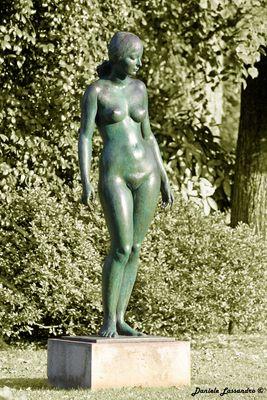 Statua parco Ciani Lugano