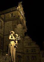 Statue auf dem Markt von Marburg