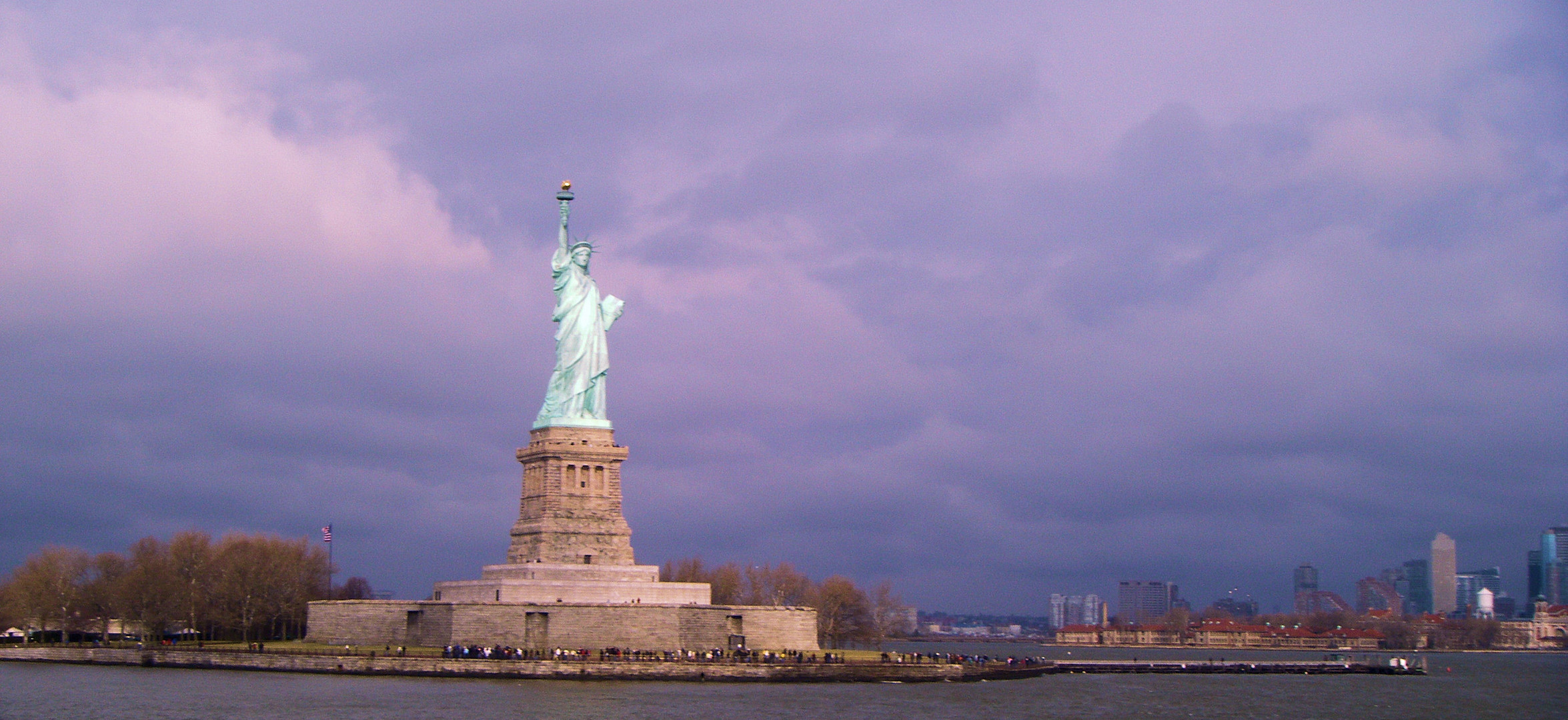 Statue de la liberte ; les couleurs de l'hiver