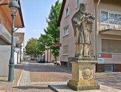 Statue des Heiligen Johannes Nepomuk in Neuenburg am Rhein
