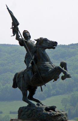 Statue Equestre de Jeanne d'Arc - Alice Sainte Reine - Alésia (Côte d'Or, Bourgogne, France)