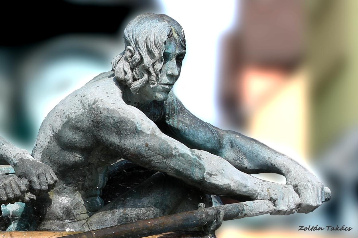 Statue in Koblenz.