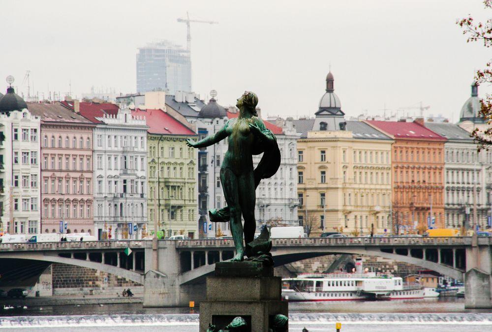 Statue Moldau Prag P-62-phex  +8Fotos
