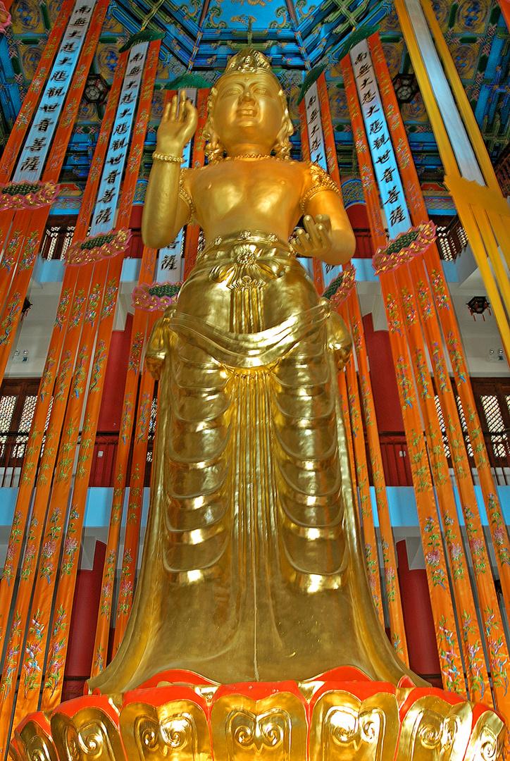 Statue of Mahakala Buddha in Hall of the Guardian Kings