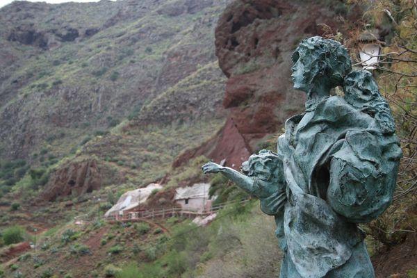 Statur in den Bergen von Gran Canaria