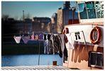 Stau im Hafen MA 4