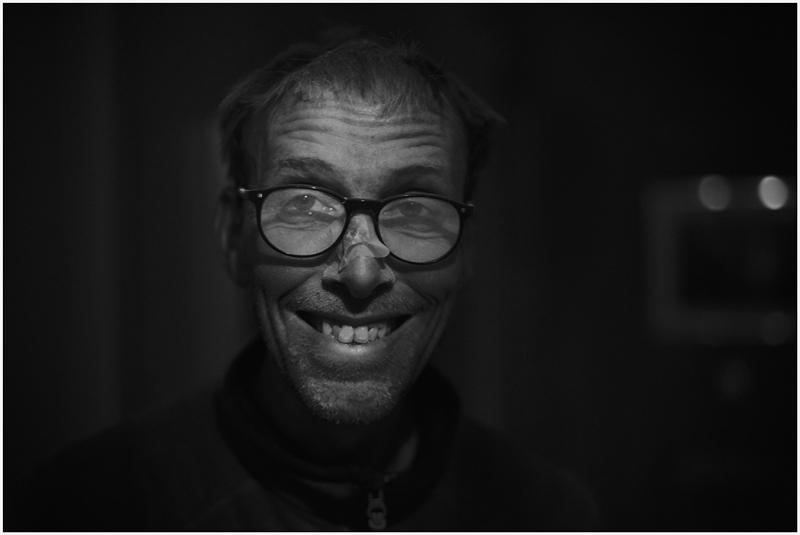 Staubige Brille
