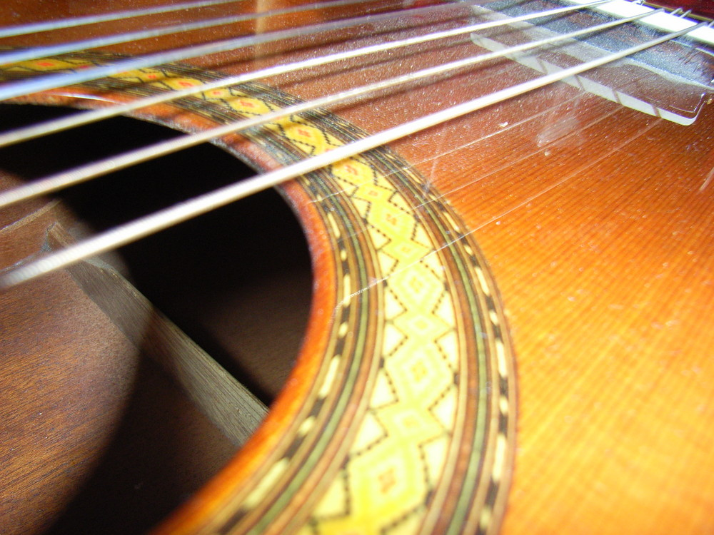 Staubige Gitarre