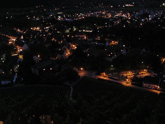Staufen bei Nacht