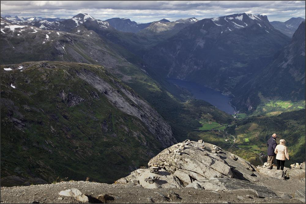 Staunen am Geiranger Fjord