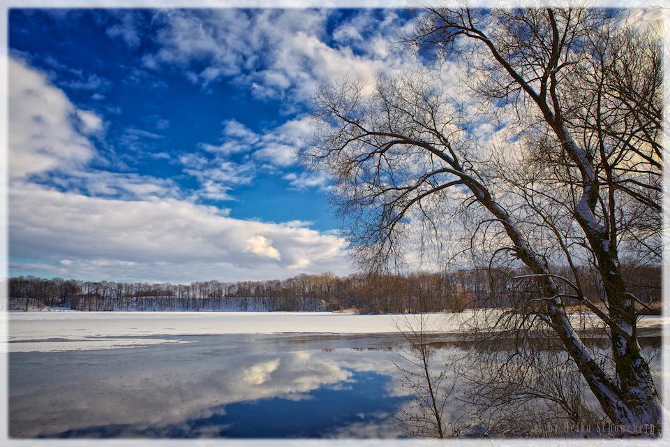 Stausee Glauchau im Winter 2013