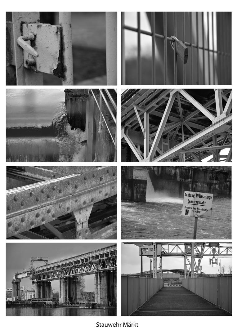 Stauwehr Märkt - Eine Collage