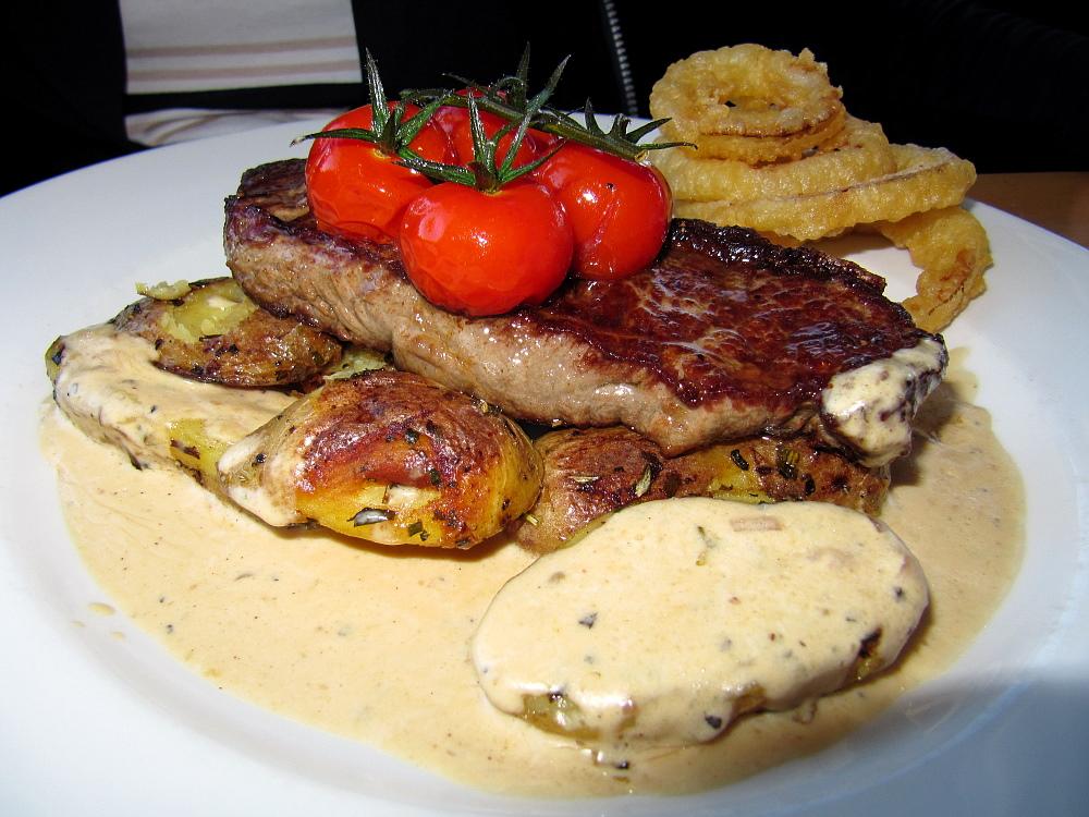 Steak-Essen in St. Ives...