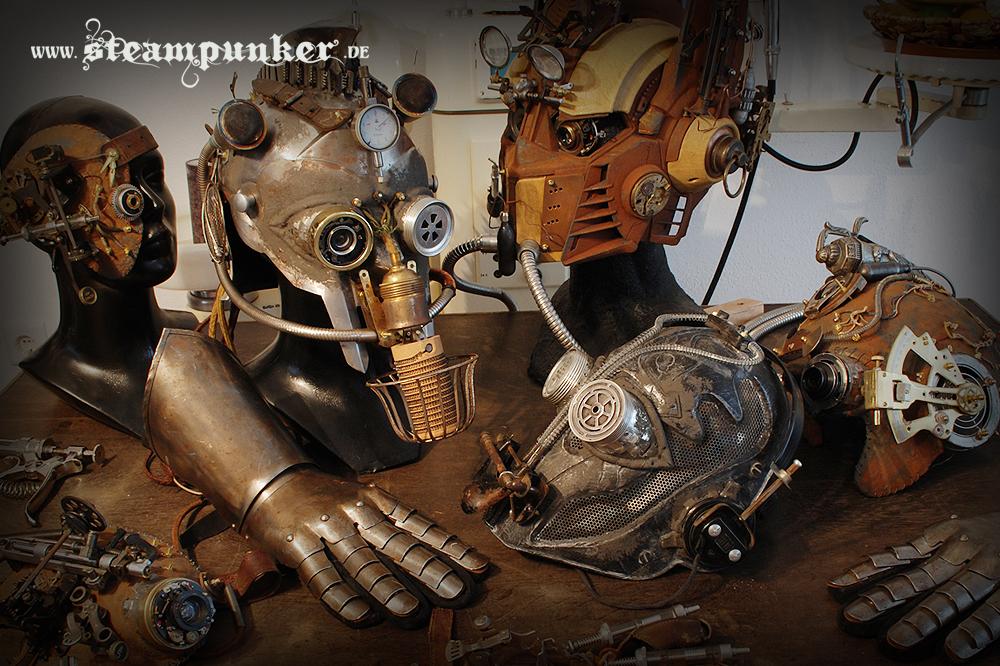 Steampunk Helm, Maske