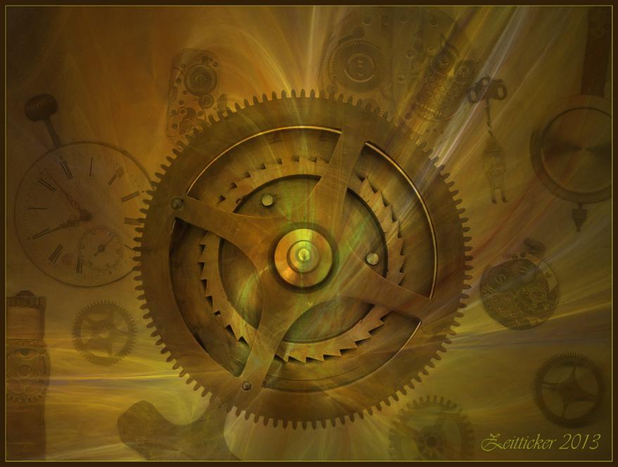 Steampunk Zeitticker...